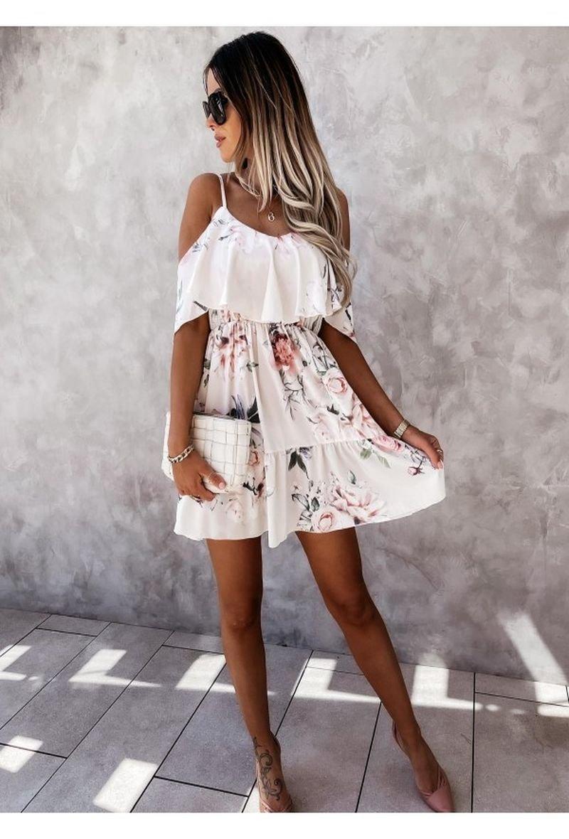 Zozo Blomster kjole, kort