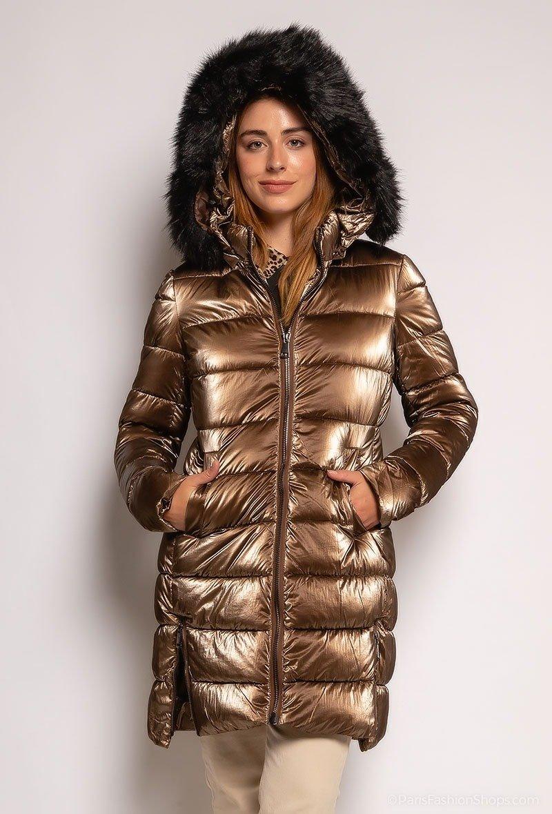 Bronze Vinterjakke med faux fur